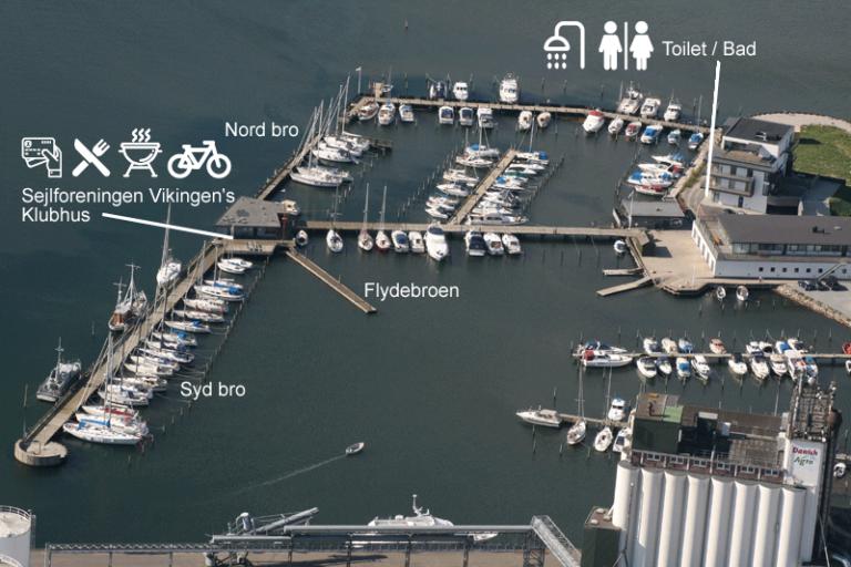 Kort over havnen